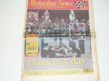 MOTORING NEWS 1994 July 13 British GP, BTCC, F3, CART, Jim Clark Rally